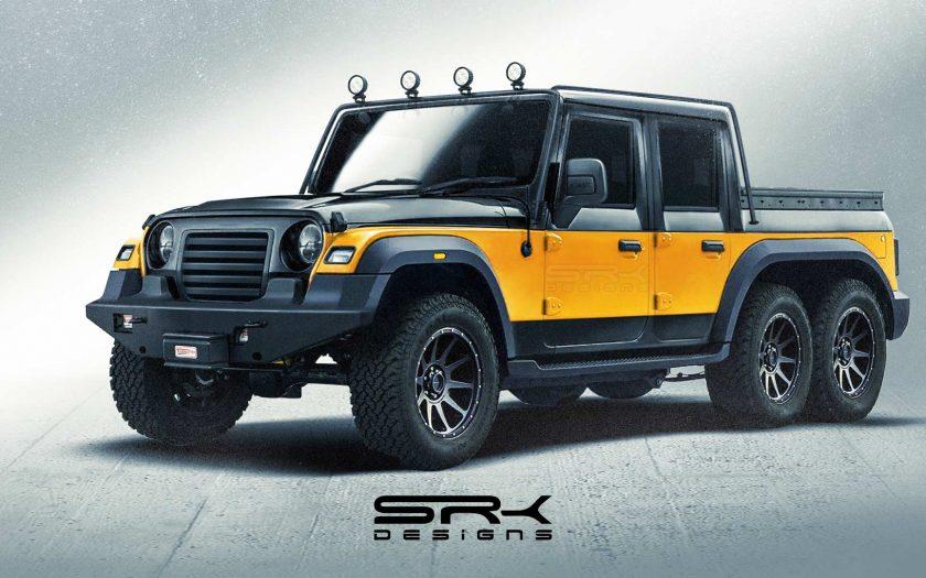 Mahindra Thar 6x6 от SRK Designs