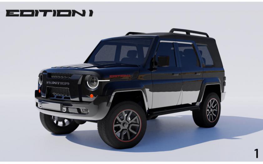 Рендер: УАЗ Хантер 2 поколения