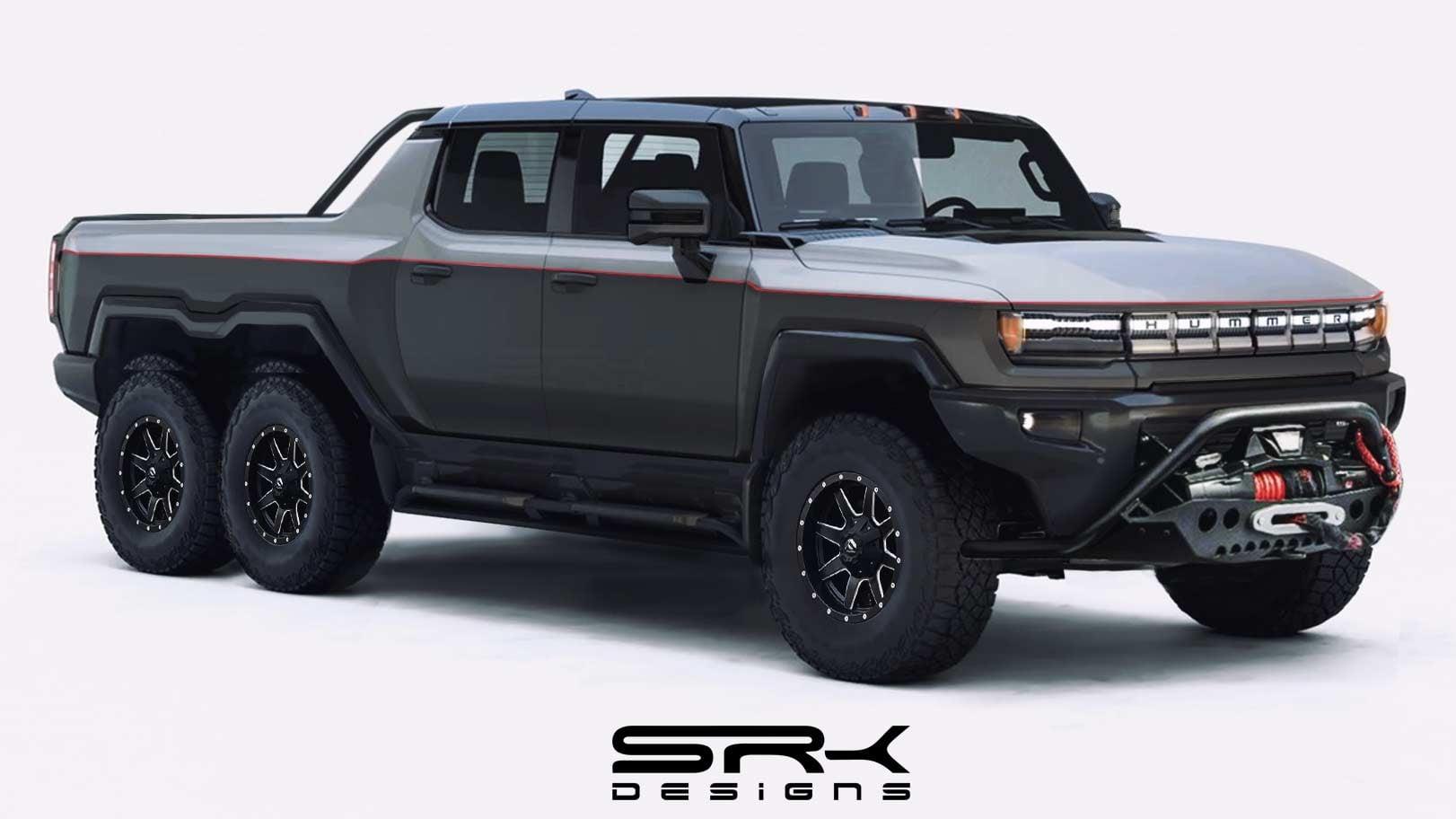 Пикап GMC Hummer EV 6x6, рендер SRK Designs