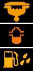 Значки воды в топливе