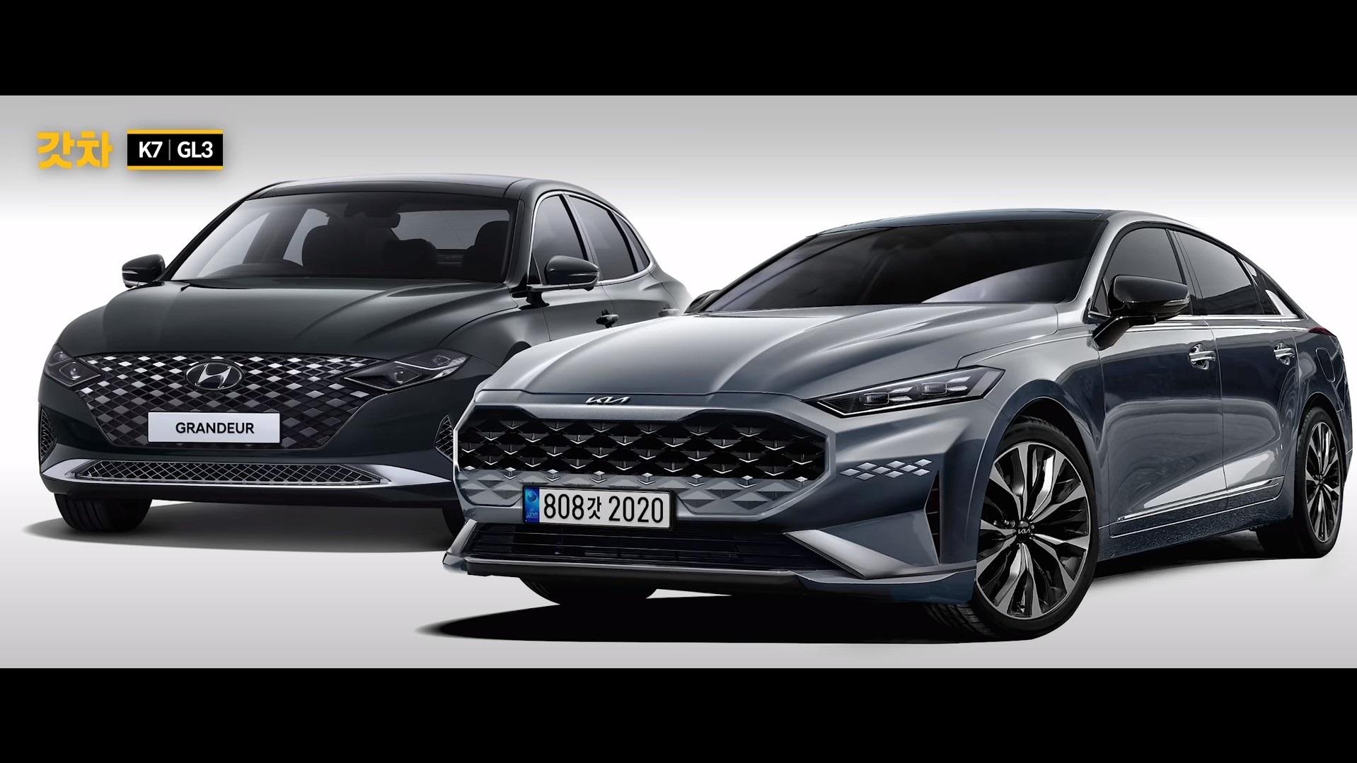 Hyundai Grandeur и Kia k7 третьего поколения (рендер