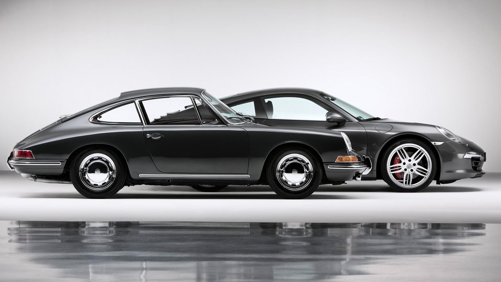 Porsche 911 Carrera 4S Coupe 2013 и Porsche 911 Coupe 1963