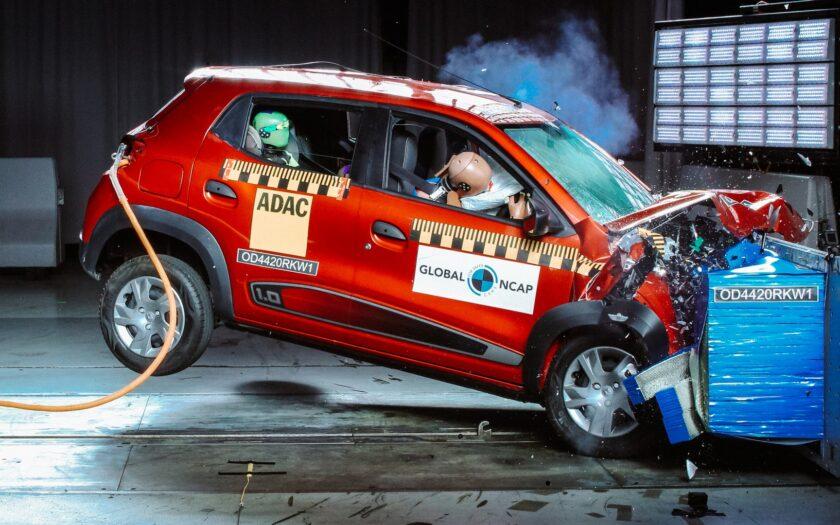 Renault Kwid краш-тест -Global NCAP