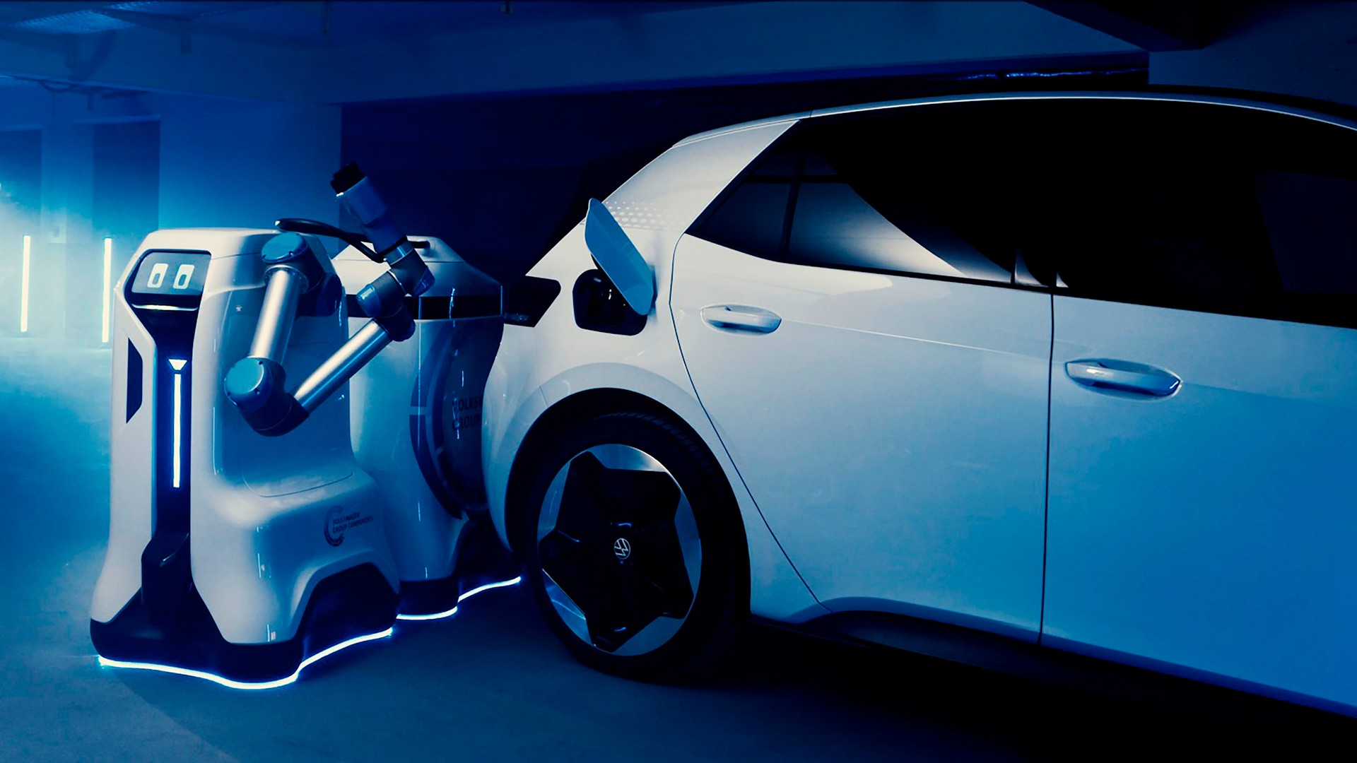 Мобильный зарядный робот Volkswagen
