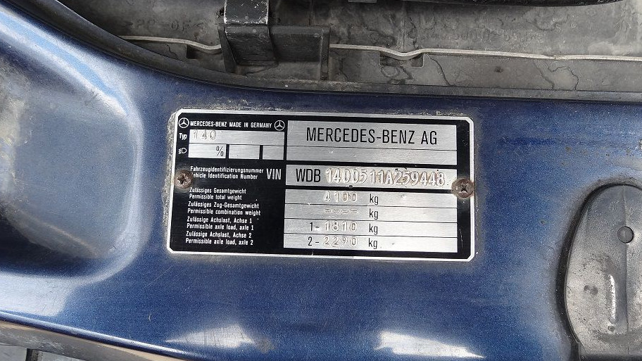 VIN-код Mercedes-Benz