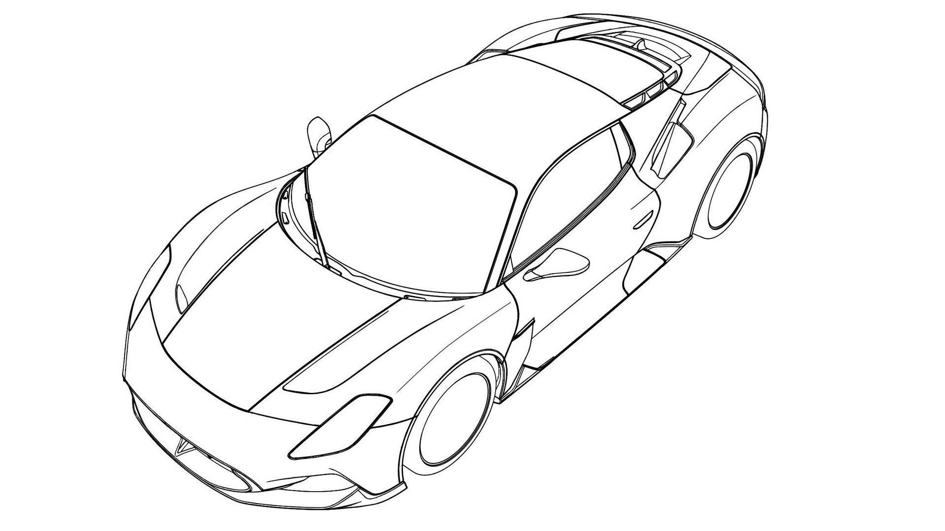 Maserati MC20 патентное изображение из базы ФИПС