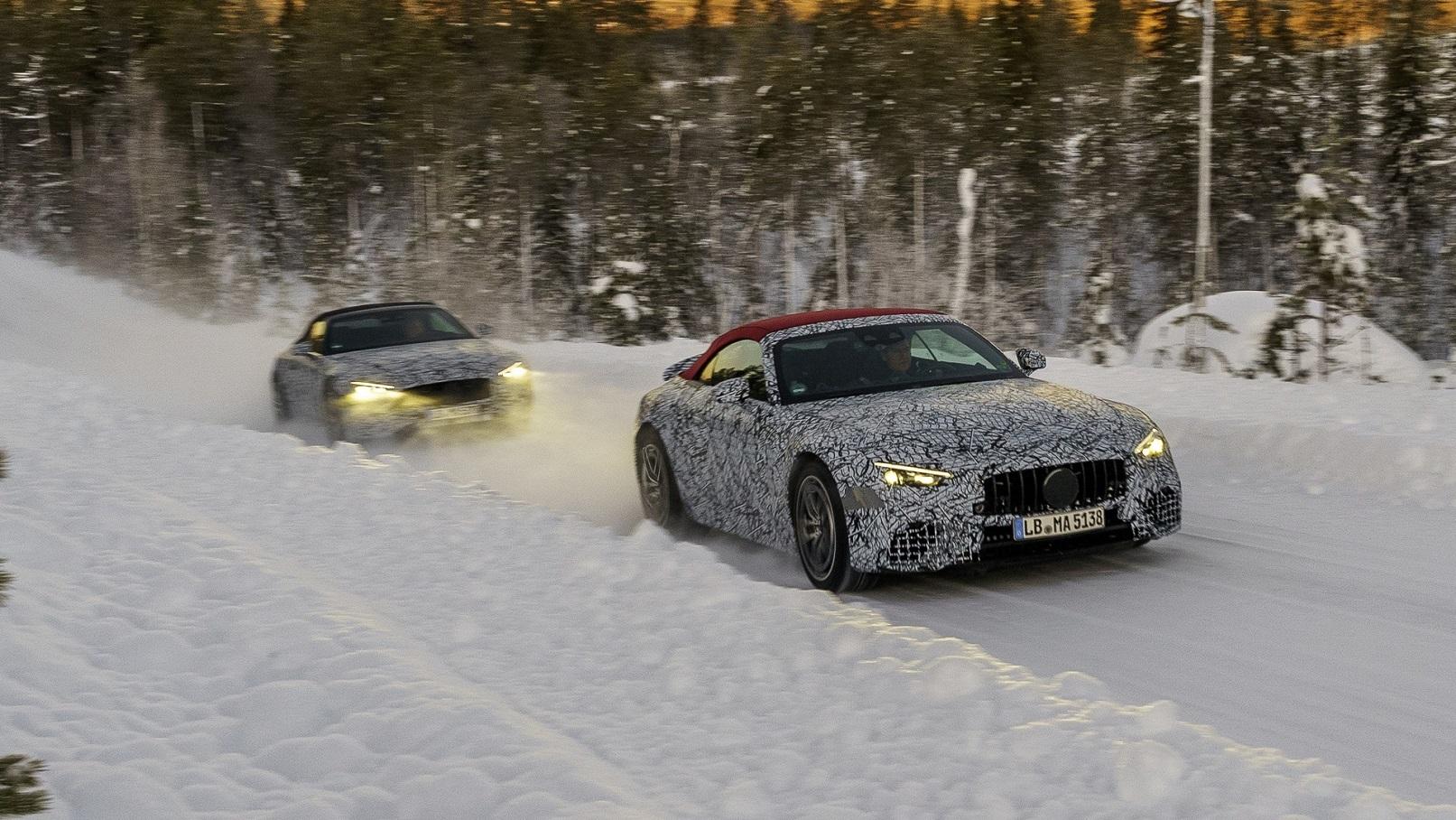 Тесты Mercedes-AMG SL 300