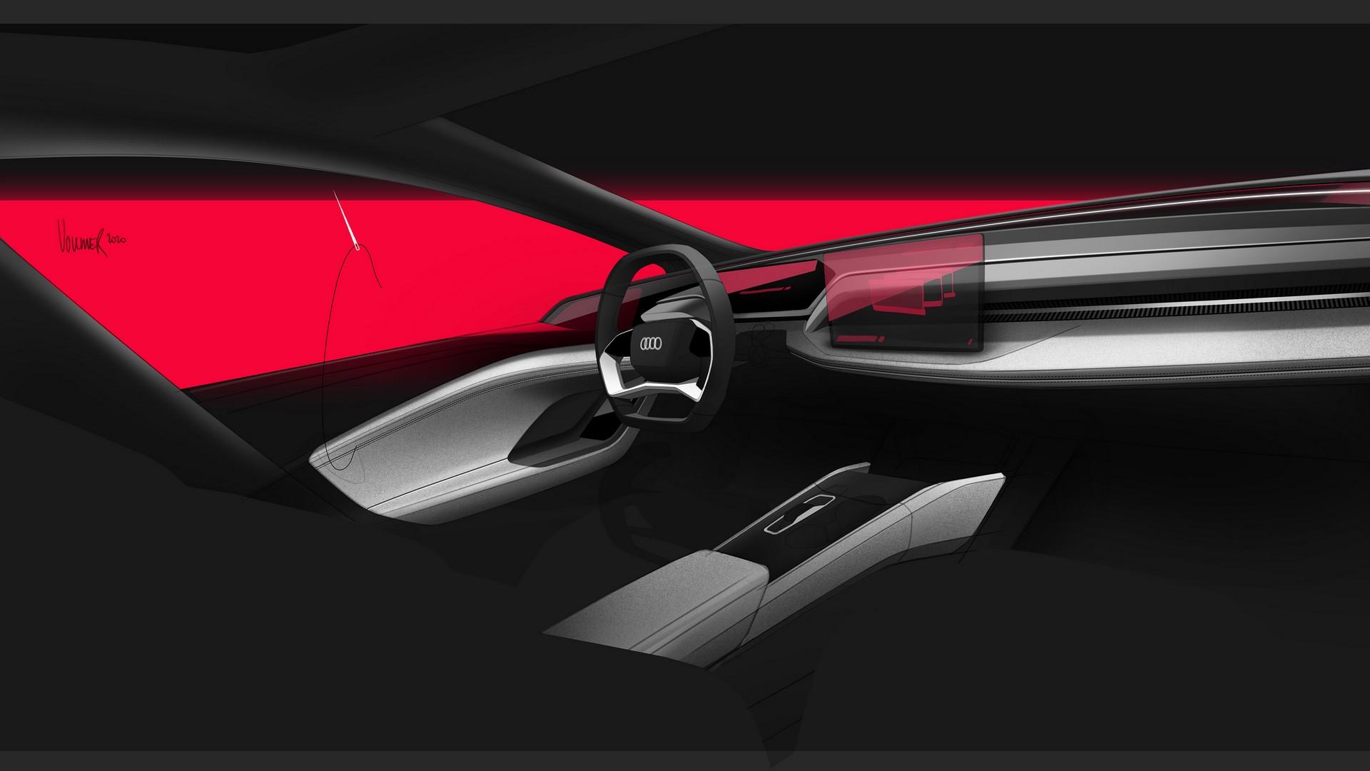 Салон концепта Audi A6 e-tron