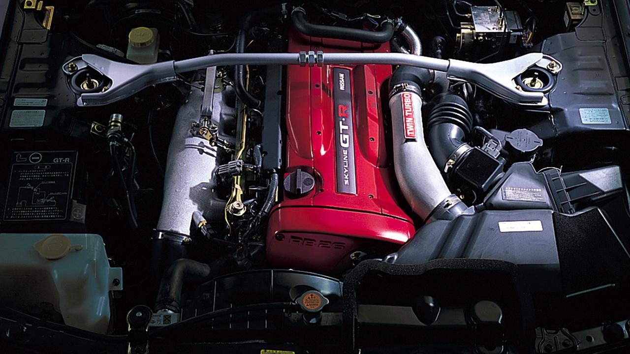 Двигатель RB26DETT объемом 2.6 литра мощностью 280 л.с.