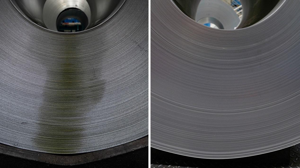 Сравнение масла Prelube I (слева) и Prelube II (справа)