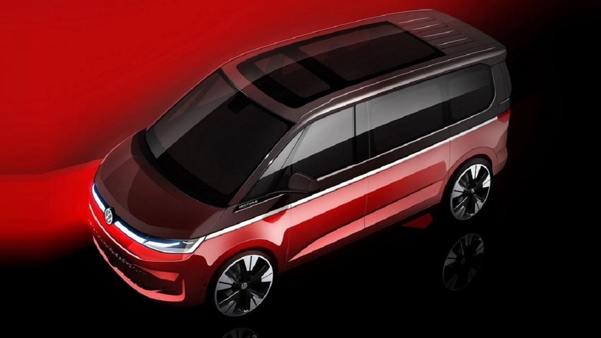 Тизер Volkswagen Multivan T7